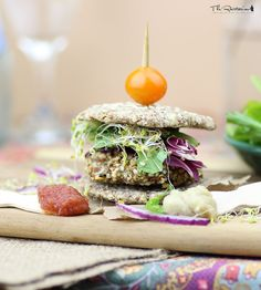 The Rawtarian: Raw veggie burger recipeINGREDIENTS  1/2 cup hemp hearts (hemp seeds) 1/2 cup sunflower seeds 1/2 cup walnuts or pecans 1/4 cup ground flax seeds 3/4 cup finely chopped veggies (combination of celery, onion, fresh parsley, and/or red pepper - some of each is best, but ratio doesn't matter) 2 tablespoons ground chia seeds 1 tablespoon water 2 teaspoons lemon juice 1 garlic clove 1 teaspoon sea salt 2 teaspoons dried dill (optional) 1 tablespoon nutritional yeast (optional)