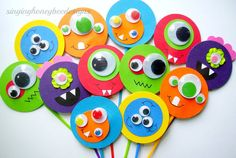 Monster cupcake toppers Monster Bash cake by thesinginghoneybee