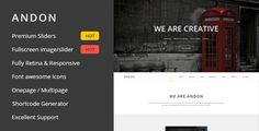 Andon - Responsive Onepage Wordpress Theme by studiothemes Andon is awesome parallax onepage template. Created on bootstrap adapted to all devices. Now in Wordpress version! Video Tutorials