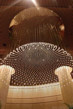 I've mention that I've stay at the Peninsula hotel in Tokyo that I really love going back all the time, so here is a post that sums up du. Lobby Interior, Interior Lighting, Modern Lighting, Lighting Design, Interior Design, Ceiling Detail, Ceiling Design, Peninsula Hotel, Peninsula Tokyo