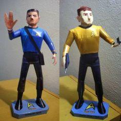 Tektonten Papercraft - Free Papercraft, Paper Models and Paper Toys: Star Trek Kirk and Spock Paper Models