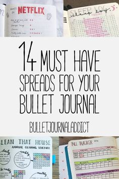 Bullet journal spreads - best bullet journal layouts for everything you want to track- 14 must have spreads you need in your bullet journal # bulletjournal Daily Bullet Journal, Bullet Journal Hacks, Bullet Journal How To Start A, Bullet Journal Notebook, Bullet Journal Spread, Bullet Journal Layout, Bullet Journal Ideas Pages, Bullet Journal Inspiration, Bullet Journals