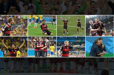 Die deutschen Fußball-Helden und ihr Ziehvater Löw genießen ihr «Glücksgefühl für alle Ewigkeit». Eine WM Bilanz der deutschen Nationalmannschaft. Foto: dpa