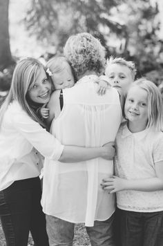 Isn't this just adorable? The love between a grandmother, her children, and the youngest member of the family, her granddaughter.
