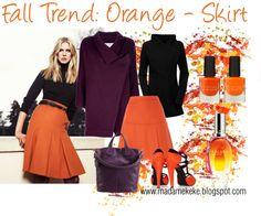 Fall Trend: Orange - Skirt