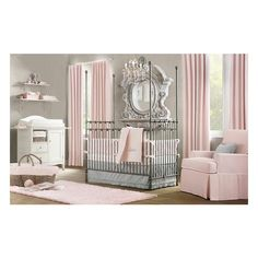 Kids Rooms / Pink & Gray! The inspiration for our baby girl's room., found on polyvore.com