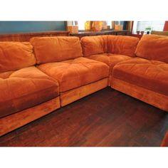 orange velvet sectional couch burnt orange furniture