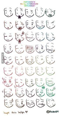 reference on drawing chibi faces Anime/Manga expresiones.A reference on drawing chibi faces on drawing chibi faces Anime/Manga expresiones.A reference on drawing chibi faces Anime/Manga expresiones. Drawing Face Expressions, Drawing Expressions, Drawing Faces, Chibi Drawing, Anime Faces Expressions, Simple Face Drawing, Anime Face Drawing, Simple Cute Drawings, Body Base Drawing