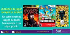 En estas vacaciones de verano, ven a #Cash. Aquí encontrarás los mejores juegos de vídeo a los mejores precios.