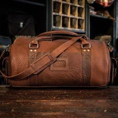 d6db554bc3fb Ryder Reserve Bison Leather Duffle Bag - Brown Leather Belt Bag