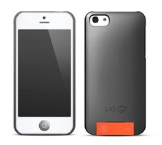 LAB.C USB Case für iPhone 5 Grau-Orange