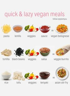 Plant based meal prep plans that feature whole foods, oil free ingredients and vegan recipes. Only cook twice a week, eat more plants and feel amazing. Quick Vegan Meals, Vegan Dinner Recipes, Vegan Recipes Easy, Whole Food Recipes, Cheap Vegan Meals, Vegan Recipes For Beginners, Vegan Recipes For Athletes, Cheap Lazy Vegan, Easy Vegan Lunch