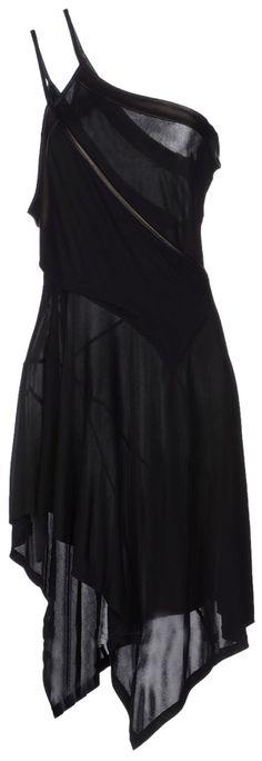 barbara bui short asymmetrical hemline black dress - totally thought this was Batman hiding behind his cape