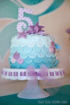That Cute Little Cake's Birthday / Mermaids - Pastel Mermaid Party at Catch My Party Mermaid Birthday Cakes, Little Mermaid Birthday, Little Mermaid Parties, Mermaid Cakes, 4th Birthday Parties, 5th Birthday, Birthday Ideas, Lila Party, Party Fiesta