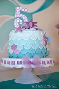 Chloe's Mermaid Party | That Cute Little Cake Mermaid Birthday Cake