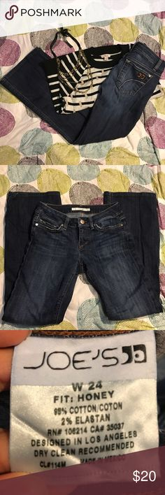 "Joes Honey I got these hemmed too short. No rips or stains. Zipper works. Inseam 27"" Joe's Jeans Jeans Flare & Wide Leg"