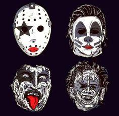 Kiss of terror Slasher Movies, Horror Movie Characters, Horror Movies, Horror Movie T Shirts, Arte Horror, Horror Art, Heavy Metal, Rock Y Metal, Kiss Art