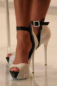 1effbc9119c 2013 New Arrival Black  amp  White Contrast Colour Peep Toe High Heel Shoes  Black Heels