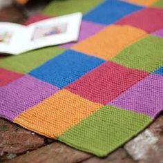 Garter Blocks Baby Blanket by Churchmouse Yarns & Teas – knitting blanket squares Knitting Blocking, Knitting Squares, Baby Knitting Patterns, Knit Squares Blanket, Loom Blanket, Patchwork Blanket, Patchwork Baby, Baby Blocks, Knitted Baby Blankets