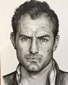 The work is done #judelaw #actor #movie #hollywood #cinema #British #usa #amazing #beautiful #love #like4like #likeforlike #l4l #nice #cute #sherlockholmes #theyoungpope #instagood #instagram #follow #followme #art #artist #sketch #portrait #photooftheday #Canada #vancouver #nyc