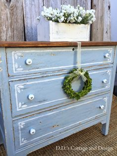 D.D.'s Cottage and Design: Dresser in Grey and White