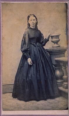 "https://flic.kr/p/aqWrVw | Teenager in Mourning, Albumen Carte de Visite, Circa 1867 | ""J. Wilkie, Photographer, 165 Eighth Avenue, New York."""