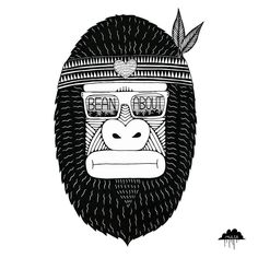 Here's Julio I drew him for @mybeanabout where he appears on a sweet portable beanbag. There is a kickstarter campaign happening so head over to their profile and take part so we can see these bean bags come to life.  An Ode to Julio the Tree Hugging Gorilla  Julio was a Gorilla and he was a marvellous chap  Whenever he entered a room everyone would stand and clap  He achieved a bit of fame in the jungle scene  By being the best friend to trees that there had ever been  Often trees would…