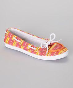 Look at this #zulilyfind! Pink Stripe Boat Shoe by LOLA #zulilyfinds $4.99 was $24.00