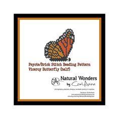 Viceroy Butterfly half Pattern  peyote/brick stitch beading
