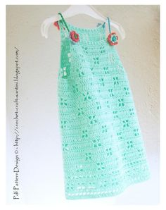 (4) Name: 'Crocheting : MINT  DRESS for Girls
