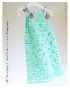 (4) Name: 'Crocheting : MINT  DRESS for Girls