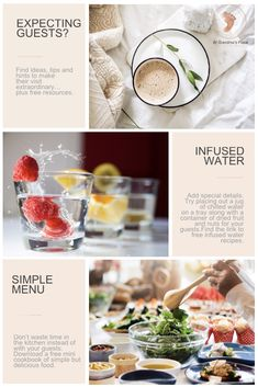 Expecting guests? Here's how to create a delightful welcome for your guests- a welcome that will help create memories that will always be treasured. Includes free recipes & resources to download and use. #home #welcome #unexpected #room #menu #infusedwater #