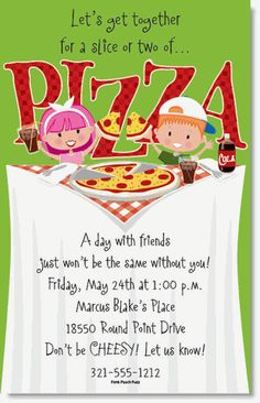 pizza party birthday invitations digital file invite individual names with chalkboard and table cloths for boys or girls custom printable pinterest - Pizza Party Invitation