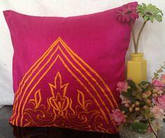"""""""Neon Pillow Fuschia Decorative Pillow Cover"""" by TheWhitePetalsDecor.  (Various sizes). 16x16 ($27.89)"""