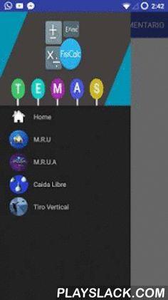 FisiCalc  Android App - playslack.com , Aprende a resolver problemas de física!Con esta aplicación que contiene los temas de física que solo basta con introducir los datos que se tienen y después arrojare el resultado así como se muestra el procedimiento que se utilizo para llegar a el.