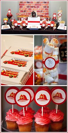 Firefighter B-day Party, this would be so cute!