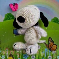 Patrones Amigurumi: Snoopy amigurumi