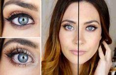 Cómo hacer que tus ojos se vean más grandes o más pequeños. Trucos de maquillaje #tips #belleza