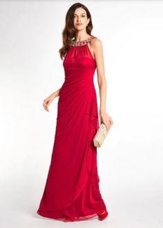 Koop heine TIMELESS - Avondjurk in de heine online-shop Heine, Chiffon, One Shoulder, Formal Dresses, Model, Online Vásárlás, Red, Shopping, Products
