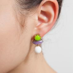Colorful Sixties Collection ピアス / GREEN | MONOCO