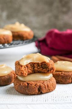These Paleo Soft Pumpkin Cookies are easy to make and incredibly delicious! A thick pumpkin cookie, spiced just right and topped with a sweet frosting. They are gluten free, dairy free, and naturally sweetened. #cookies #paleocookies #pumpkincookies #paleo #glutenfree #healthy #easyrecipe #dairyfree | realfoodwithjessica.com @realfoodwithjessica Summer Recipes, Fall Recipes, Real Food Recipes, Snack Recipes, Yummy Food, Healthy Food, Holiday Recipes, Flour Recipes, Dinner Healthy