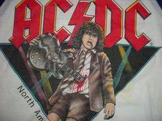 Vintage AC/DC North American Tour 1982 ACDC M