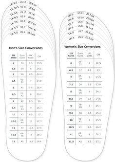 Cuando compra zapatos en la zapatería, es importante saber el tamaño de su zapato.