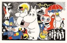 """A new exhibition at London's Southbank Centre, """"Adventures in Moominland,"""" celebrates the author, artist and illustrator Tove Jansson's Moomin series of children's books. Here, some of Jansson's characters. Tove Jansson, Thomas Brezina, Martin Baltscheit, Moomin Wallpaper, Les Moomins, Moomin Books, Illustrator, Leo Lionni, Mugs"""
