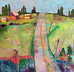 SummerScape72 by Ellie Harold in the FASO Daily Art Show