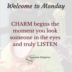 Go out and charm the world this week. #elegance #livingwell