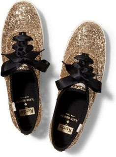 glitter and gold keds + kate spade new york