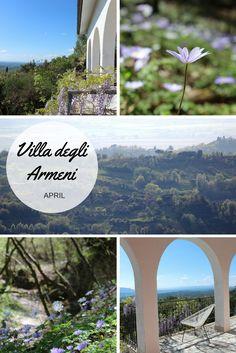 April in the Sabine Hills, flowers and blue skies!  .............  Villa degli Armeni, private villa rental near Rome, Italy