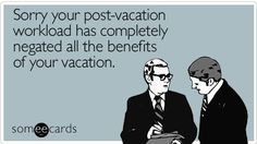 To work on vacation, or not to work: that is the question