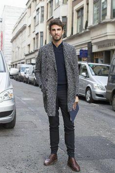 une idee pour bien choisir le manteau gris. tendances 2016 mode homme